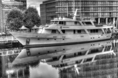 moored in London